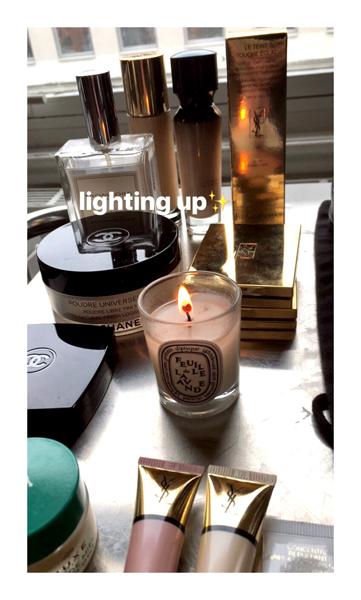 lighting up
